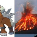 Pokémon Legendaris Entei, di Gunung Merapi